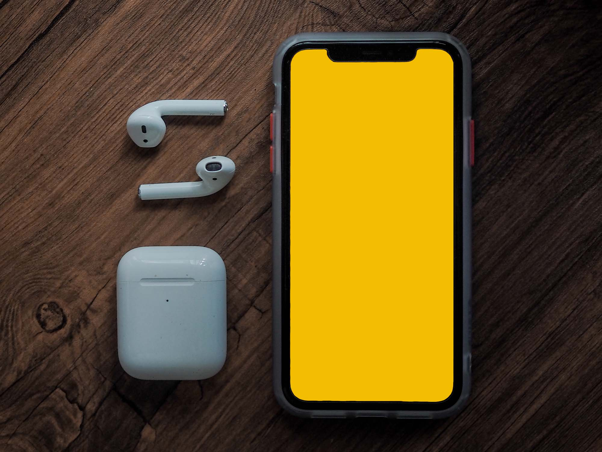 iPhone with AirPods Mockup 2