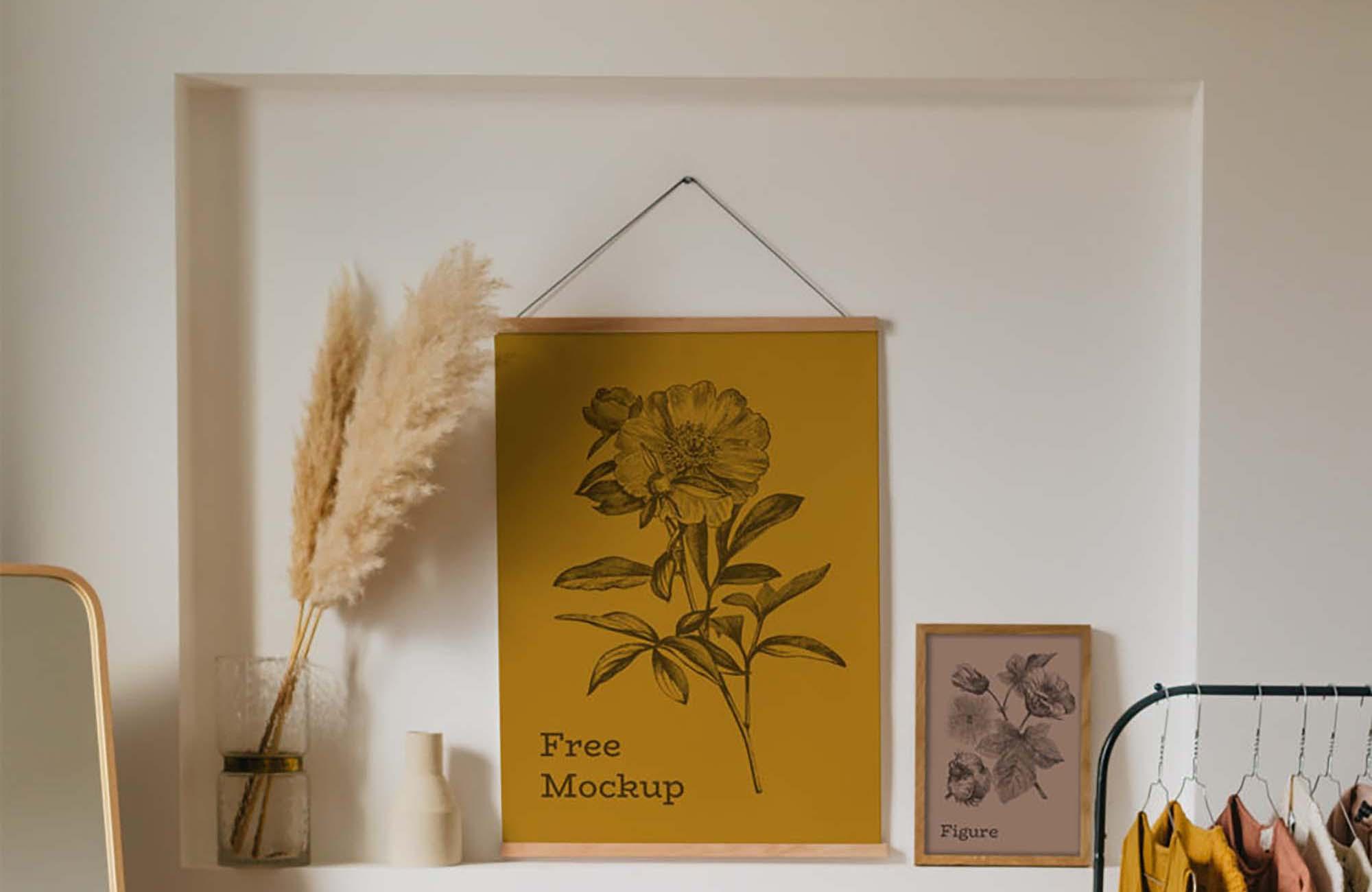 3 Interior Frames Mockup