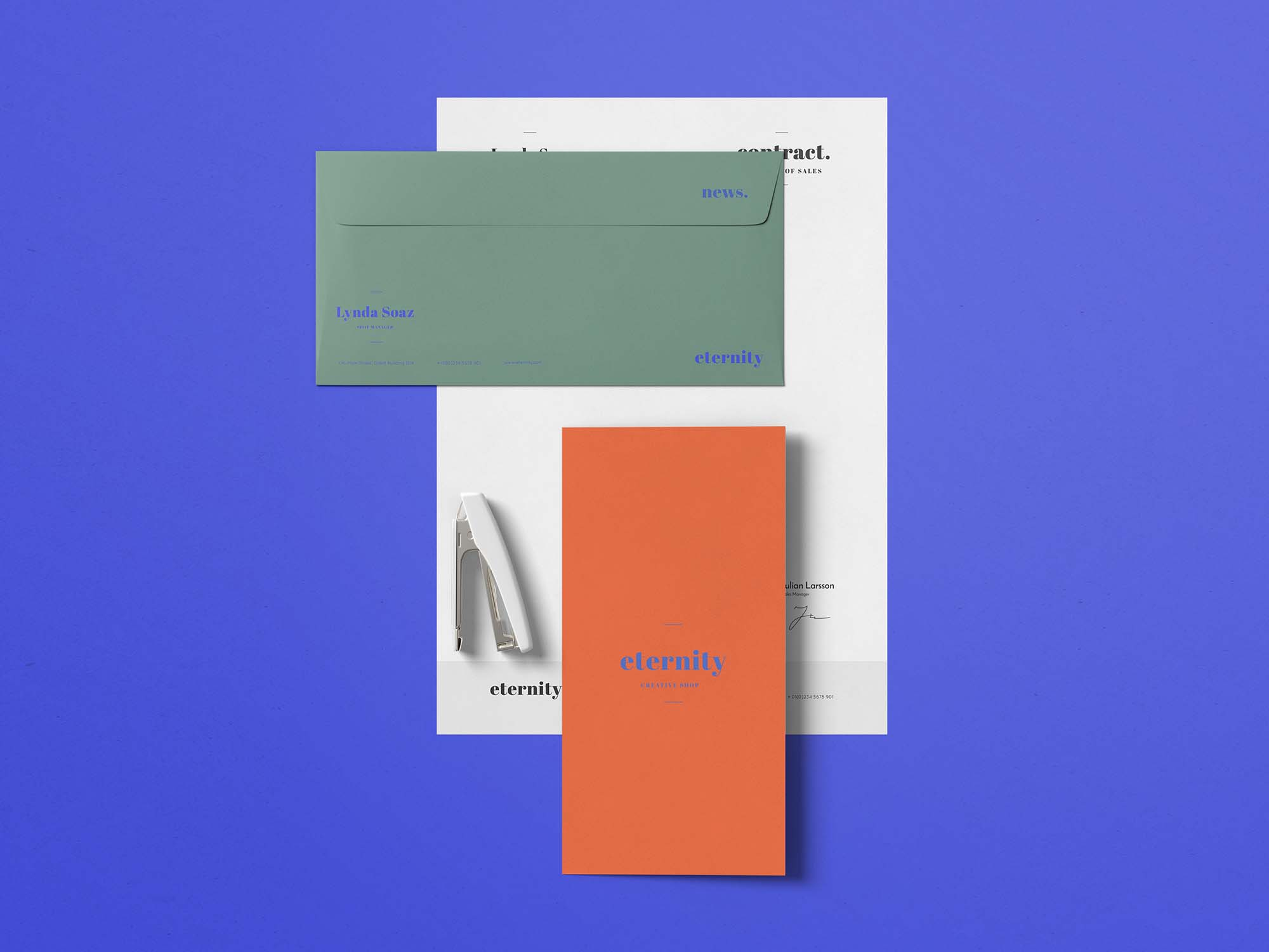 4 Elements Stationery Mockup