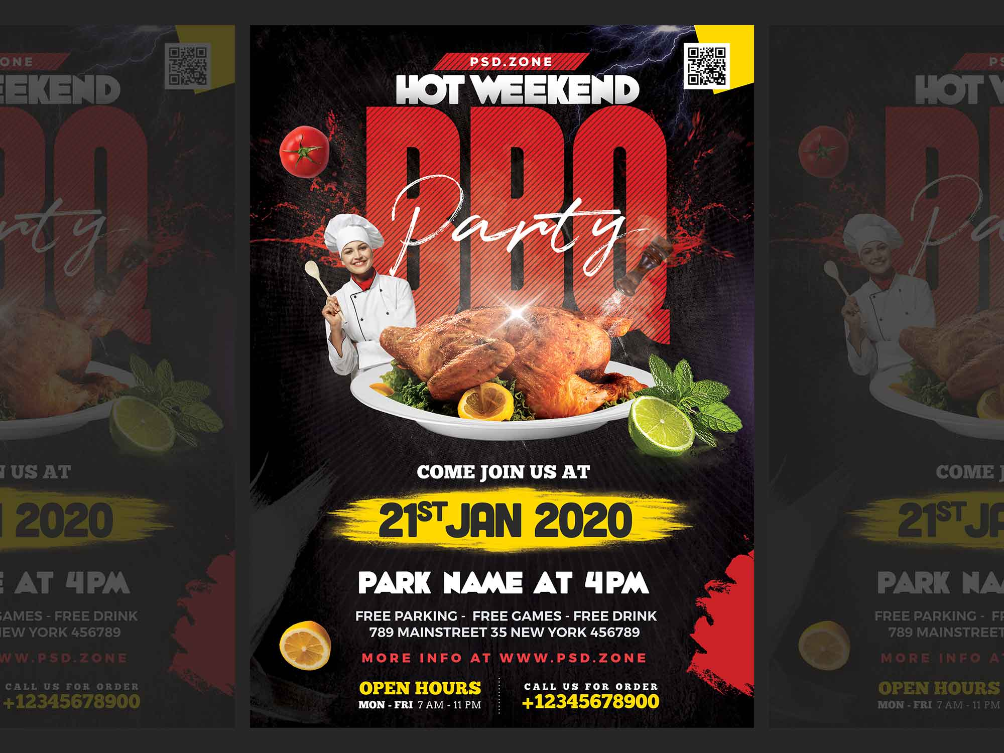 BBQ Party Flyer Template 2