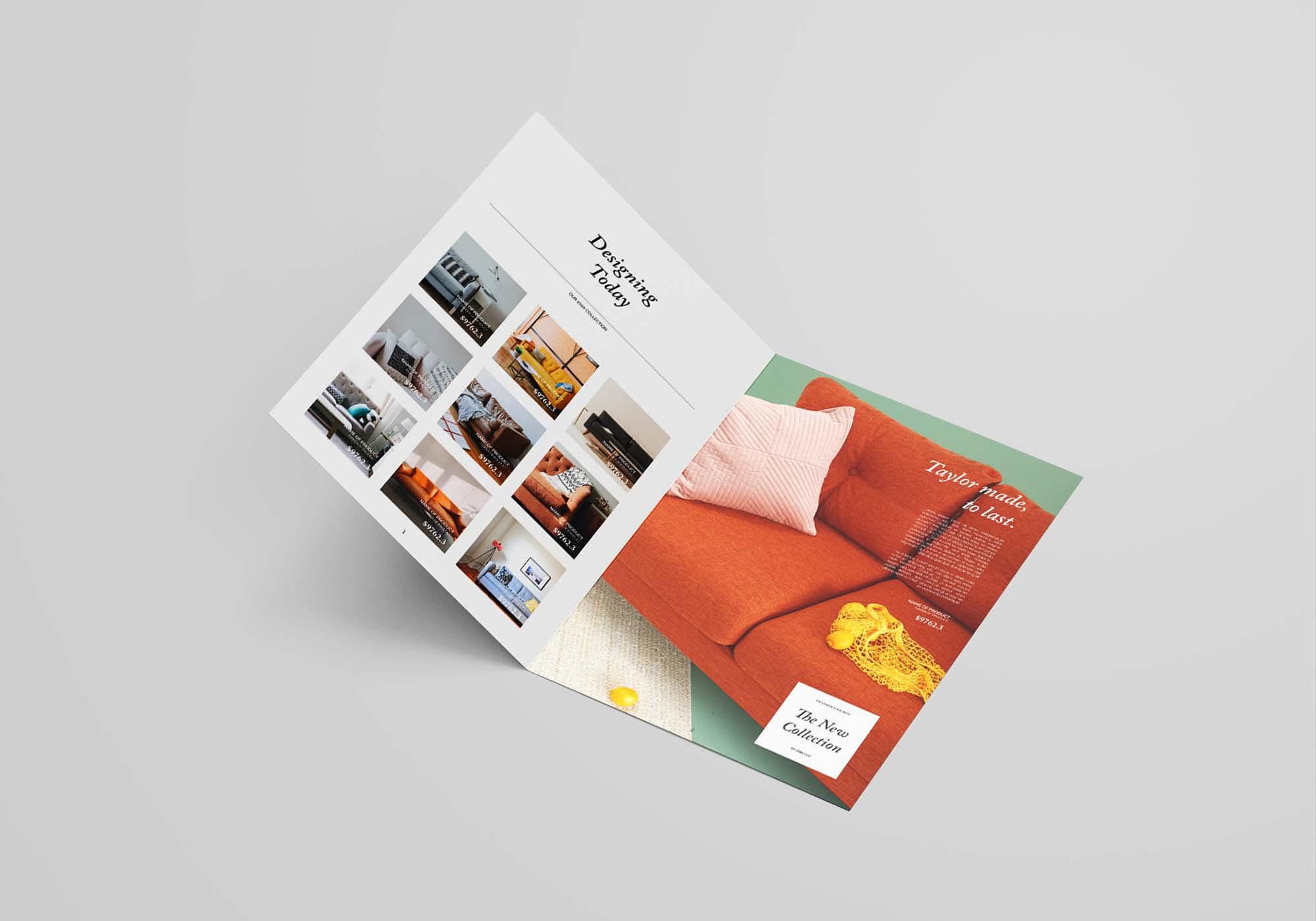 Bifold Furniture Catalog Template 2