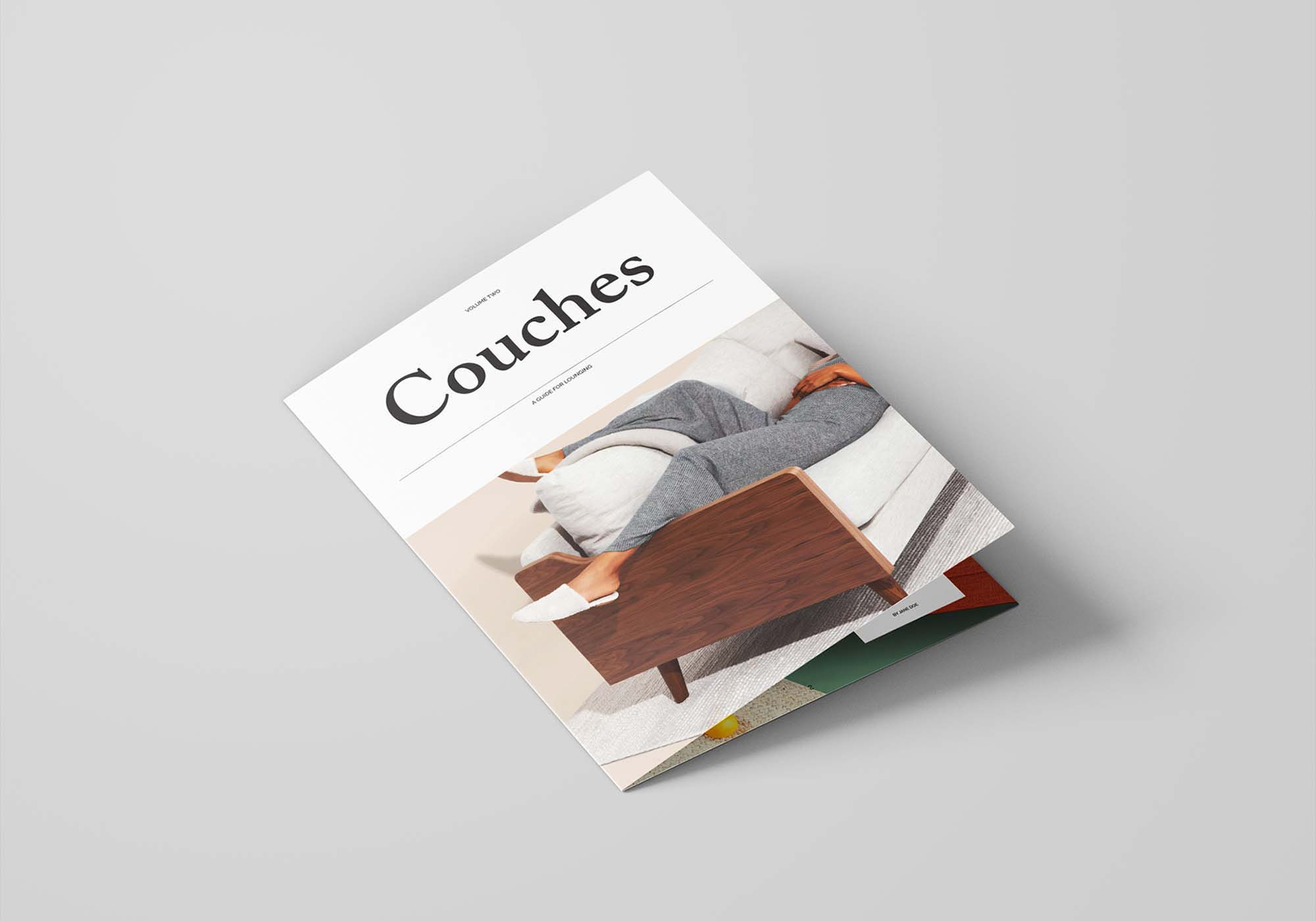 Bifold Furniture Catalog Template 3