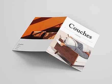 Bifold Furniture Catalog Template
