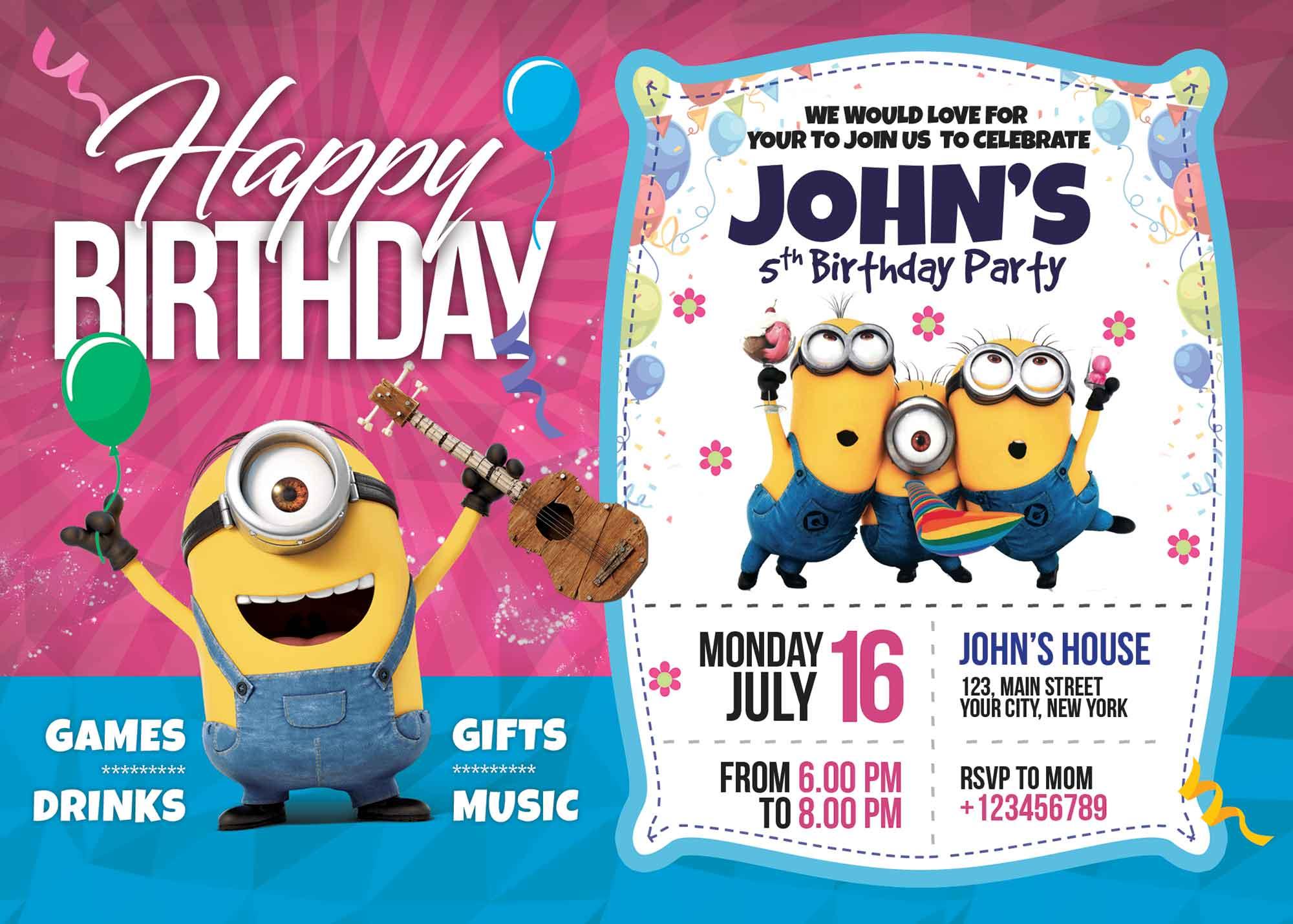 Birthday Invitation Card Template 2