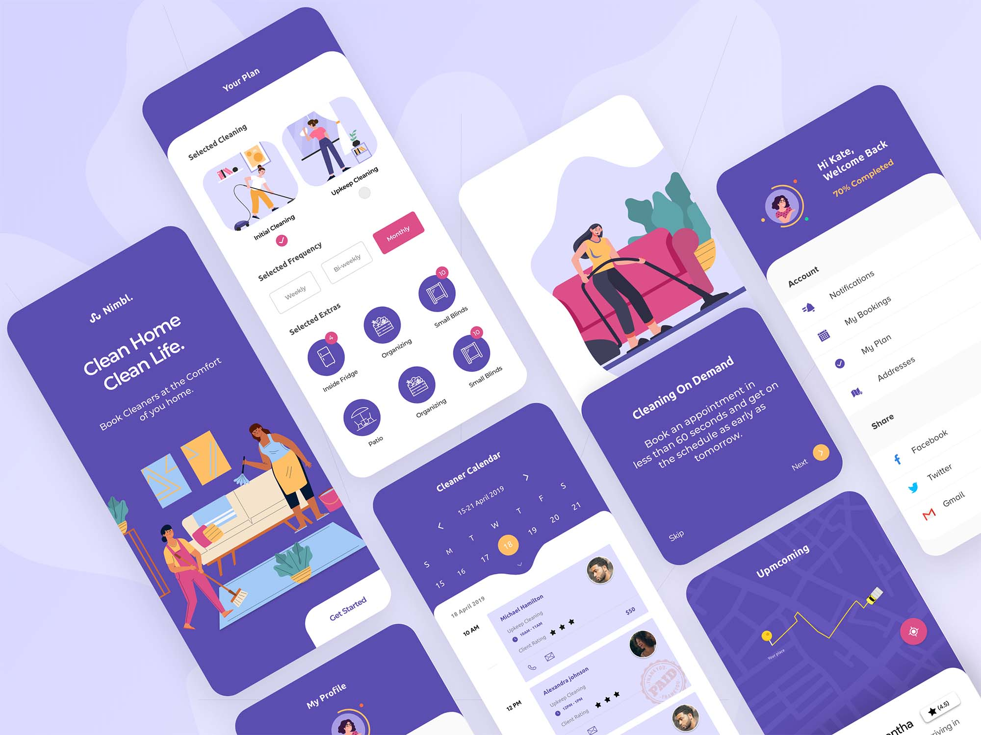 Book a House Cleaning App Template
