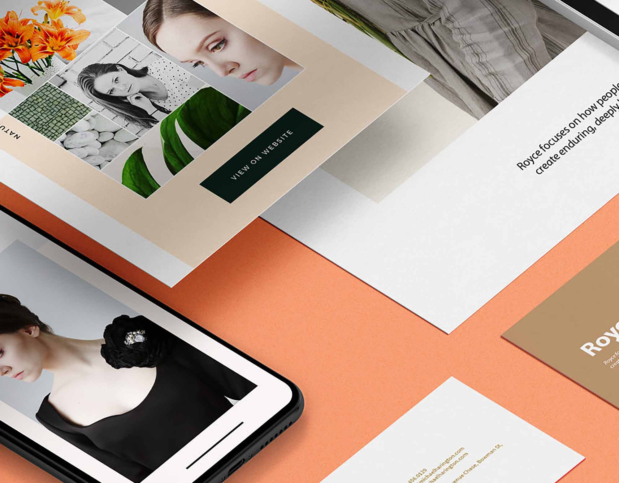 Isometric Branding Mockup 2