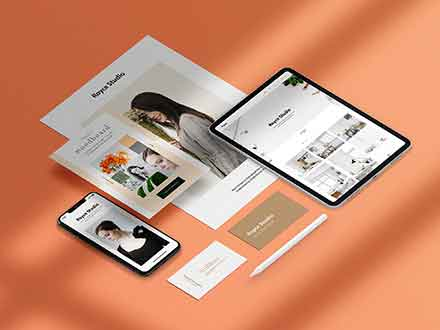 Isometric Branding Mockup