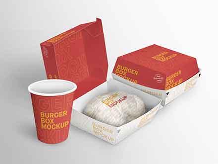 Burger Box Mockup