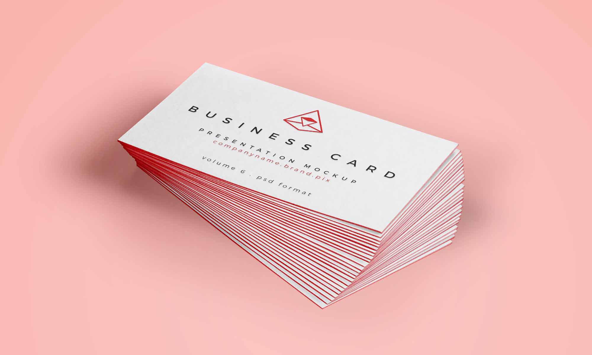 Business Card Isometric Mockup