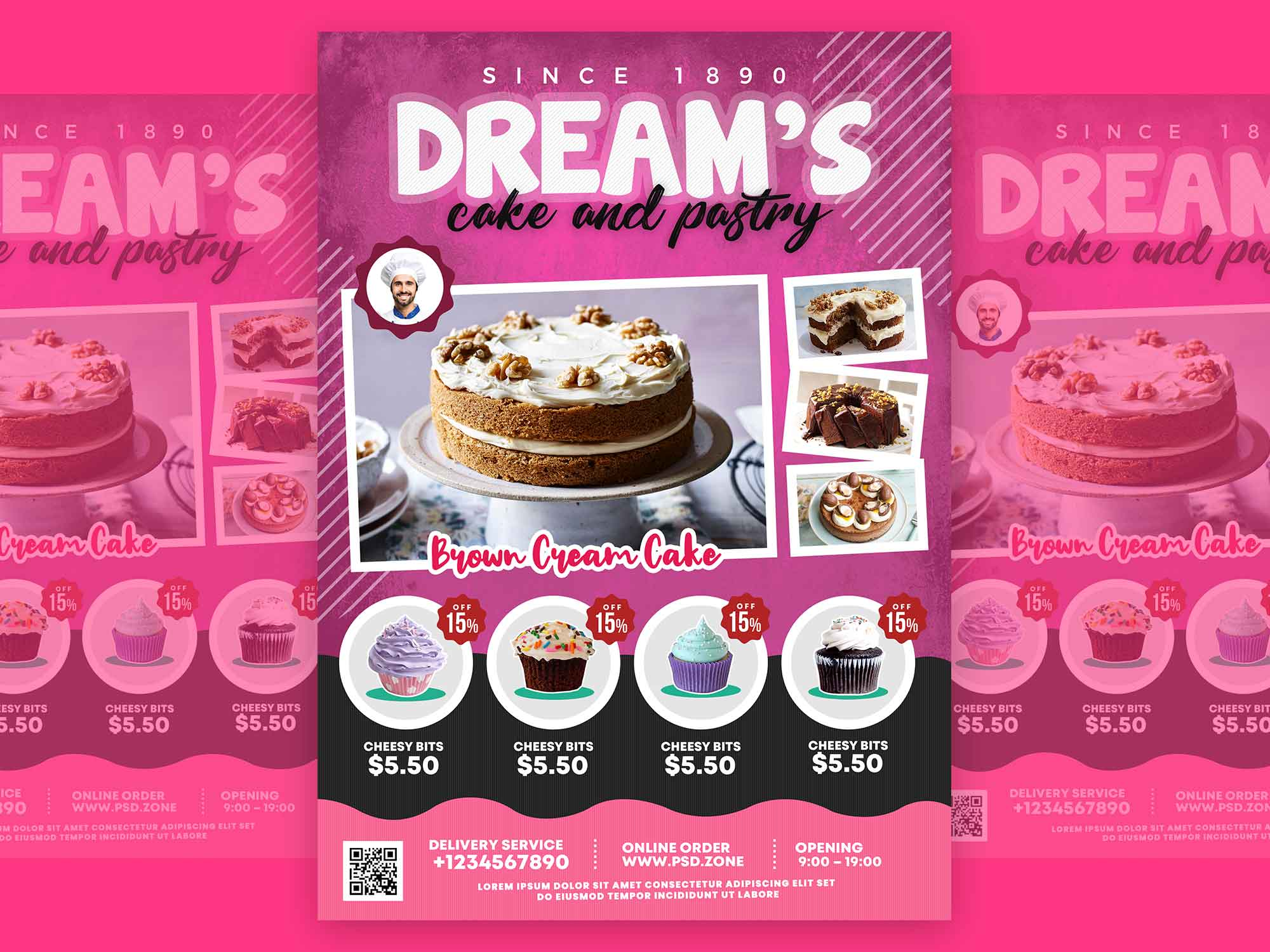 Cake and Pastry Flyer Template 2