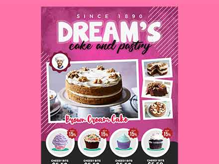 Cake and Pastry Flyer Template