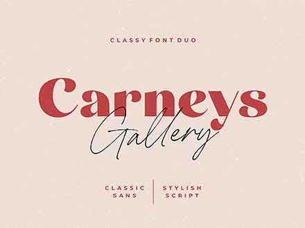 Carneys Gallery Font