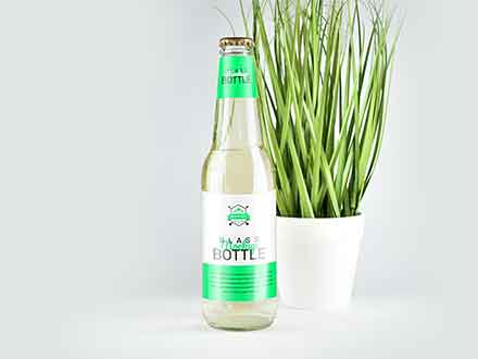 Clear Glass Bottle Mockup 2