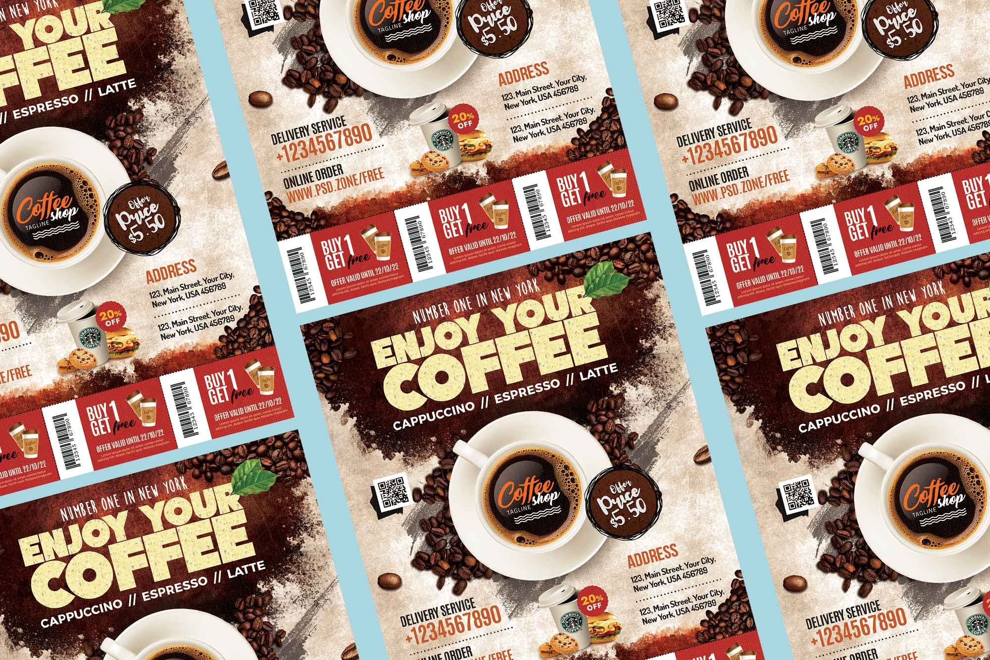 Coffee Shop Flyer Template 2