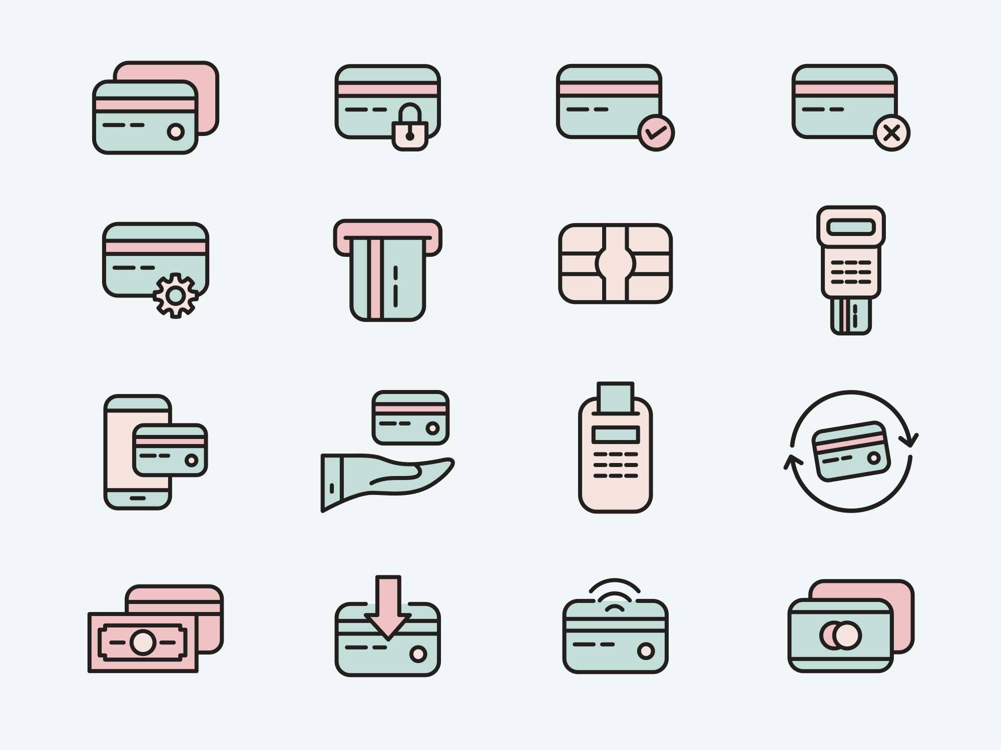 Credit Card Vector Icons