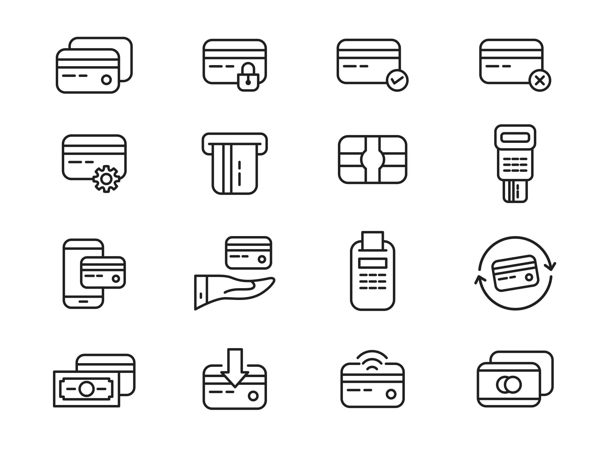 Credit Card Vector Icons 2