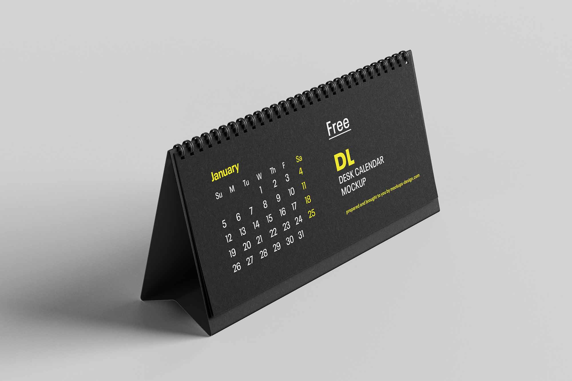 DL Desktop Calendar Mockup 2