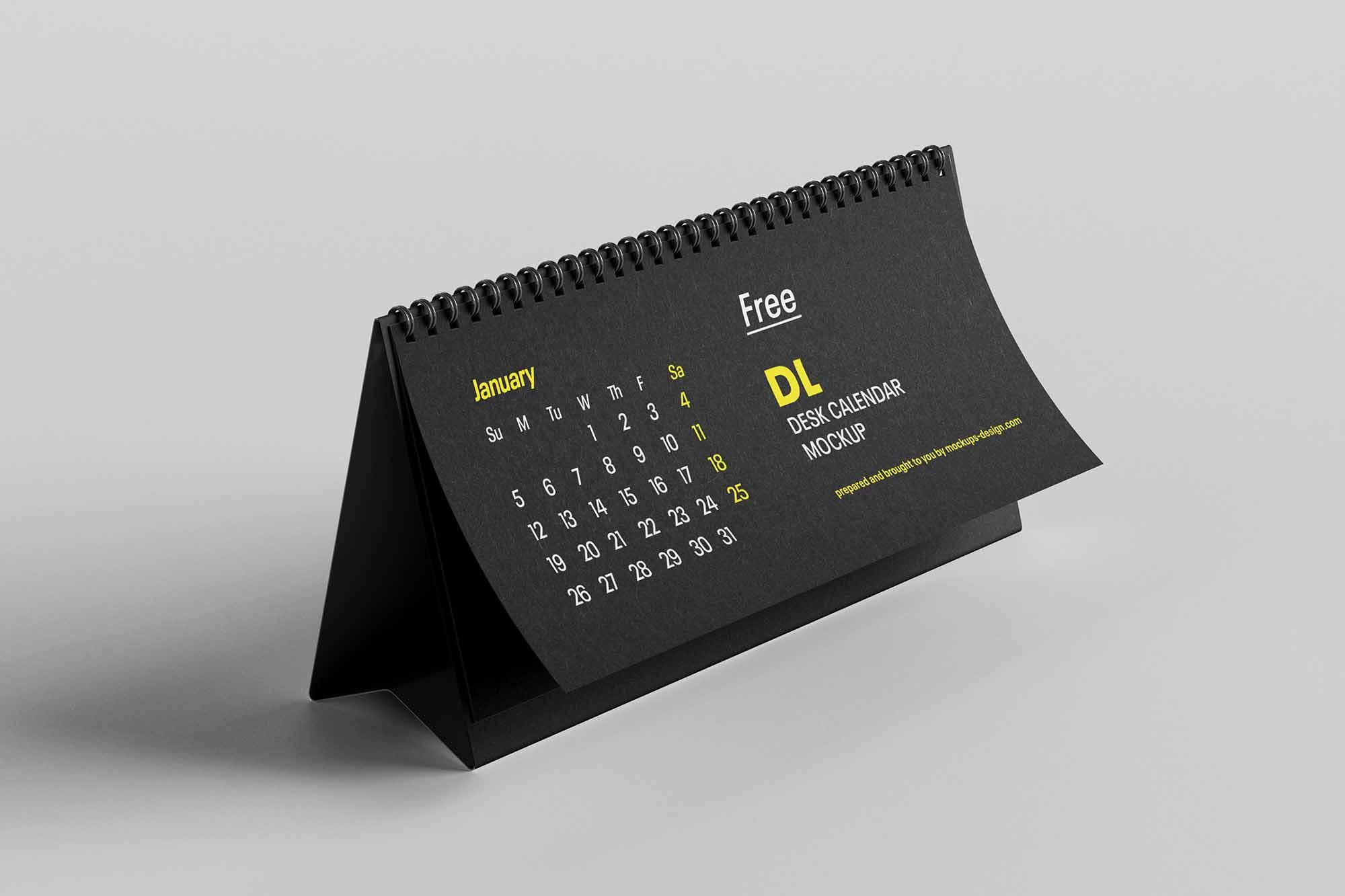 DL Desktop Calendar Mockup