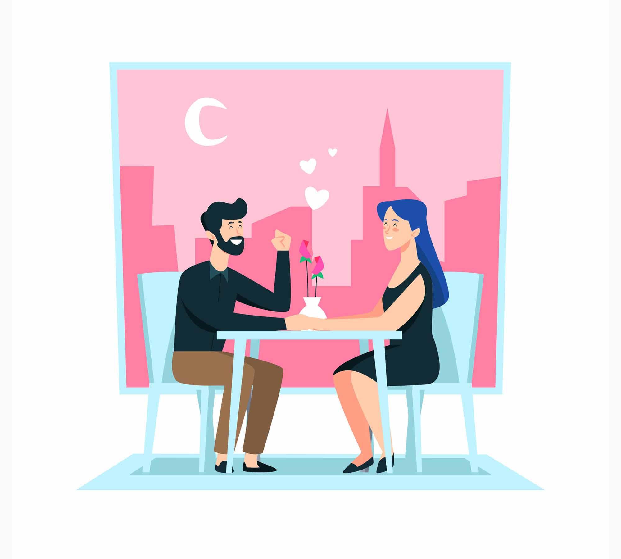 Dating Vector Illustration