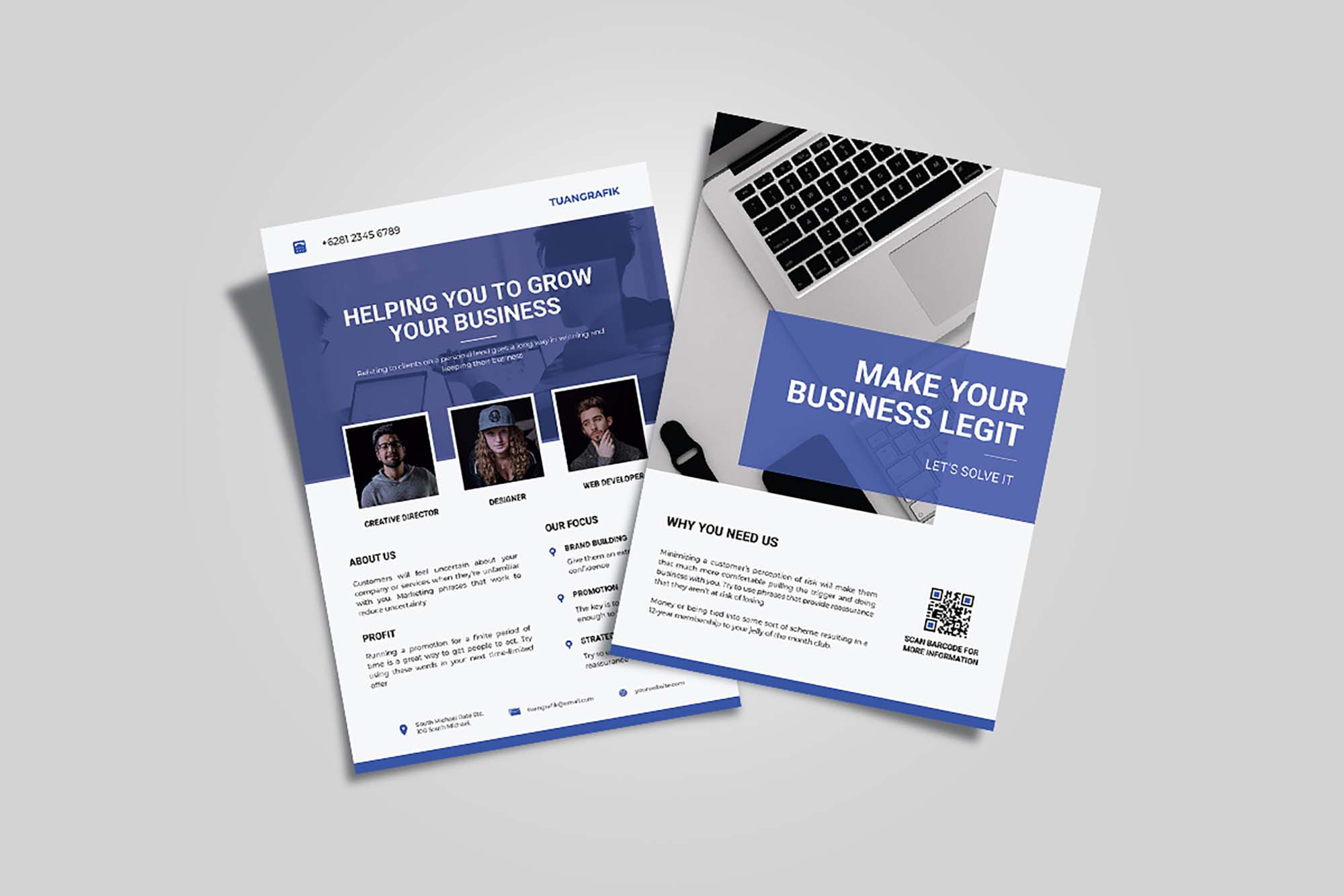 Double Side Business Flyer Template 2