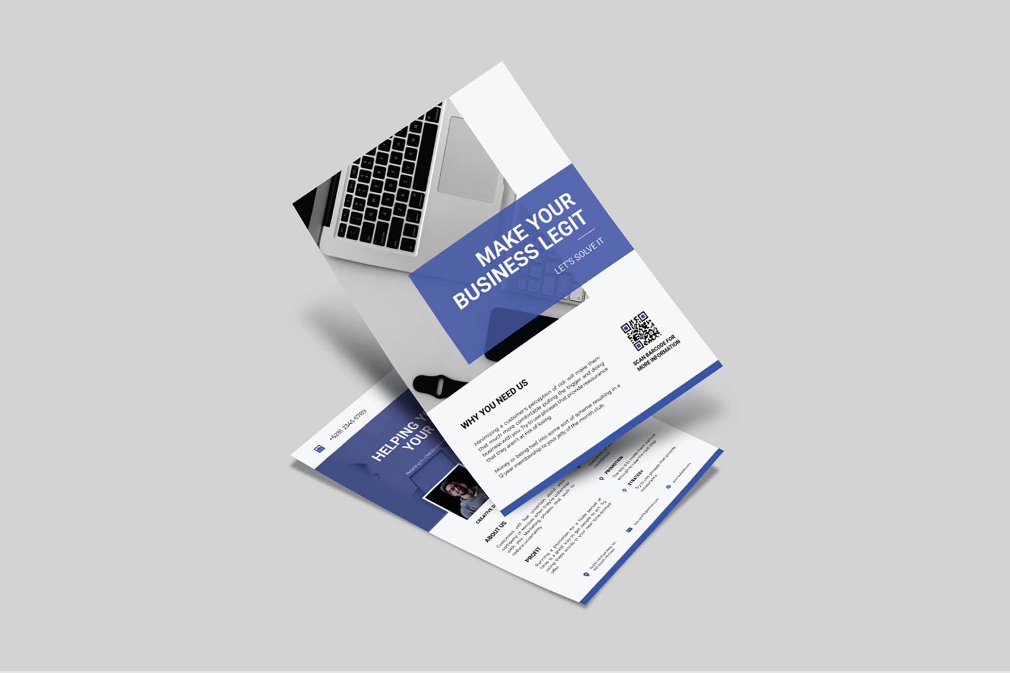 Double Side Business Flyer Template