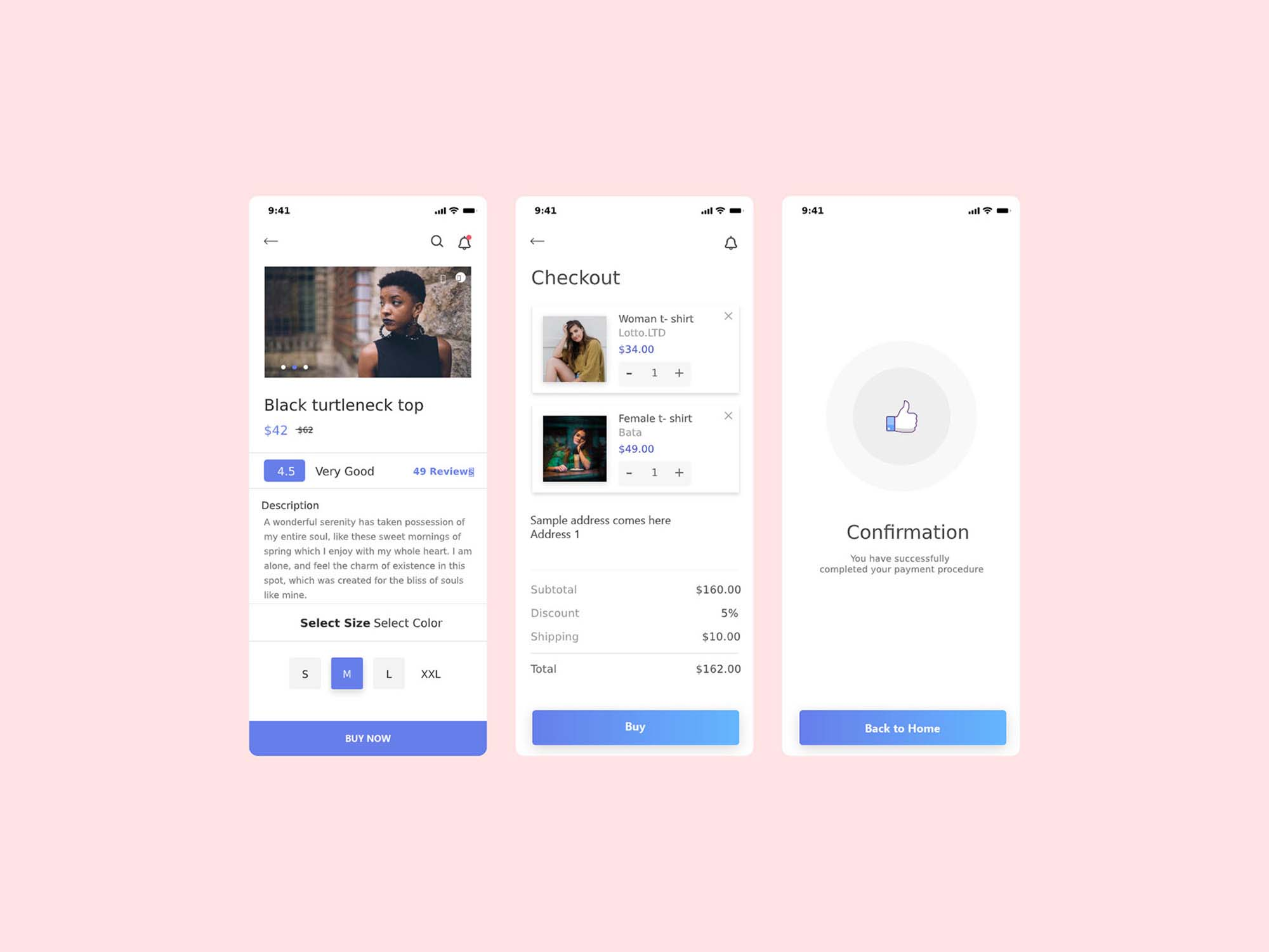 E-commerce App Ui Kit Template