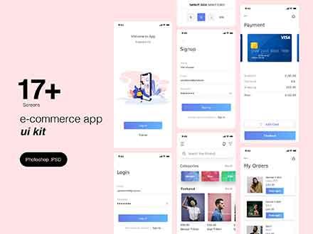 E-commerce App Ui Kit Template