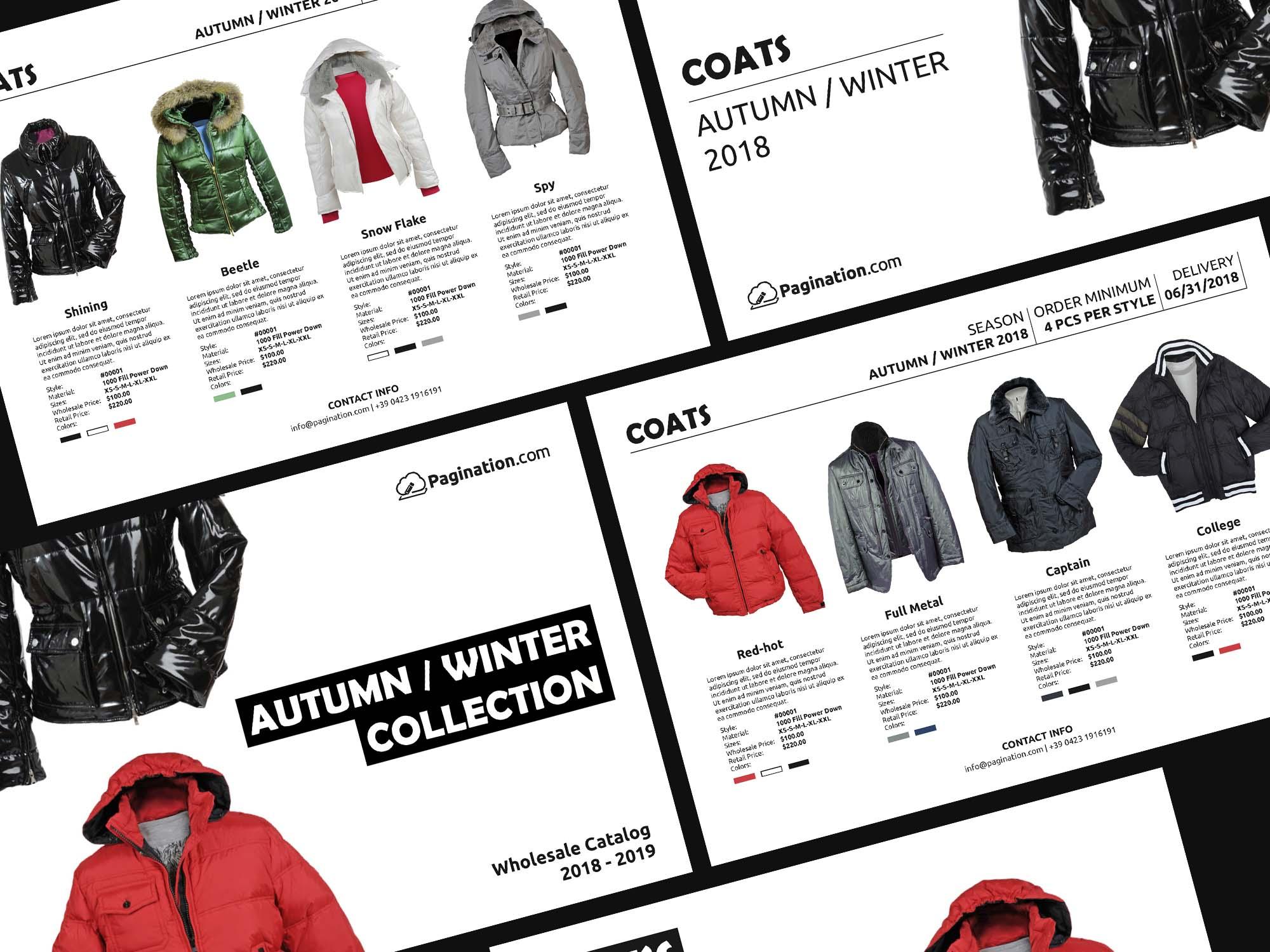 Fashion Line Sheet Brochure Template 2
