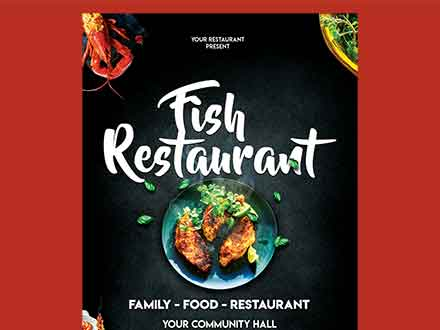 Fish Restaurant Flyer Template