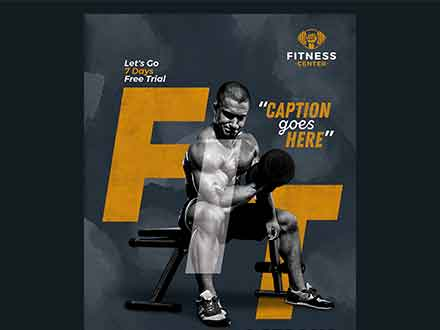 Fitness Body Builder Flyer Template
