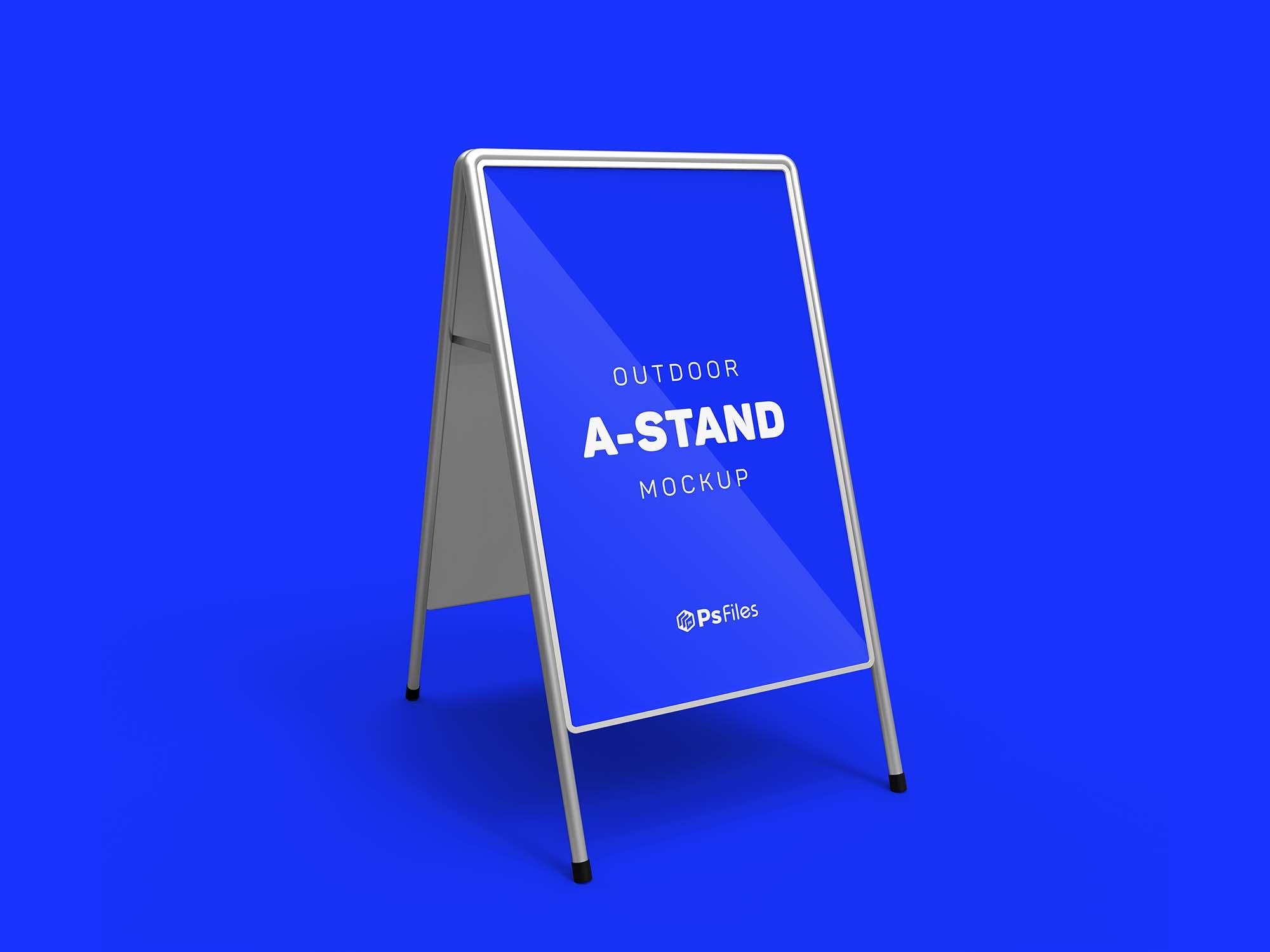 Foldable A-Stand Mockup