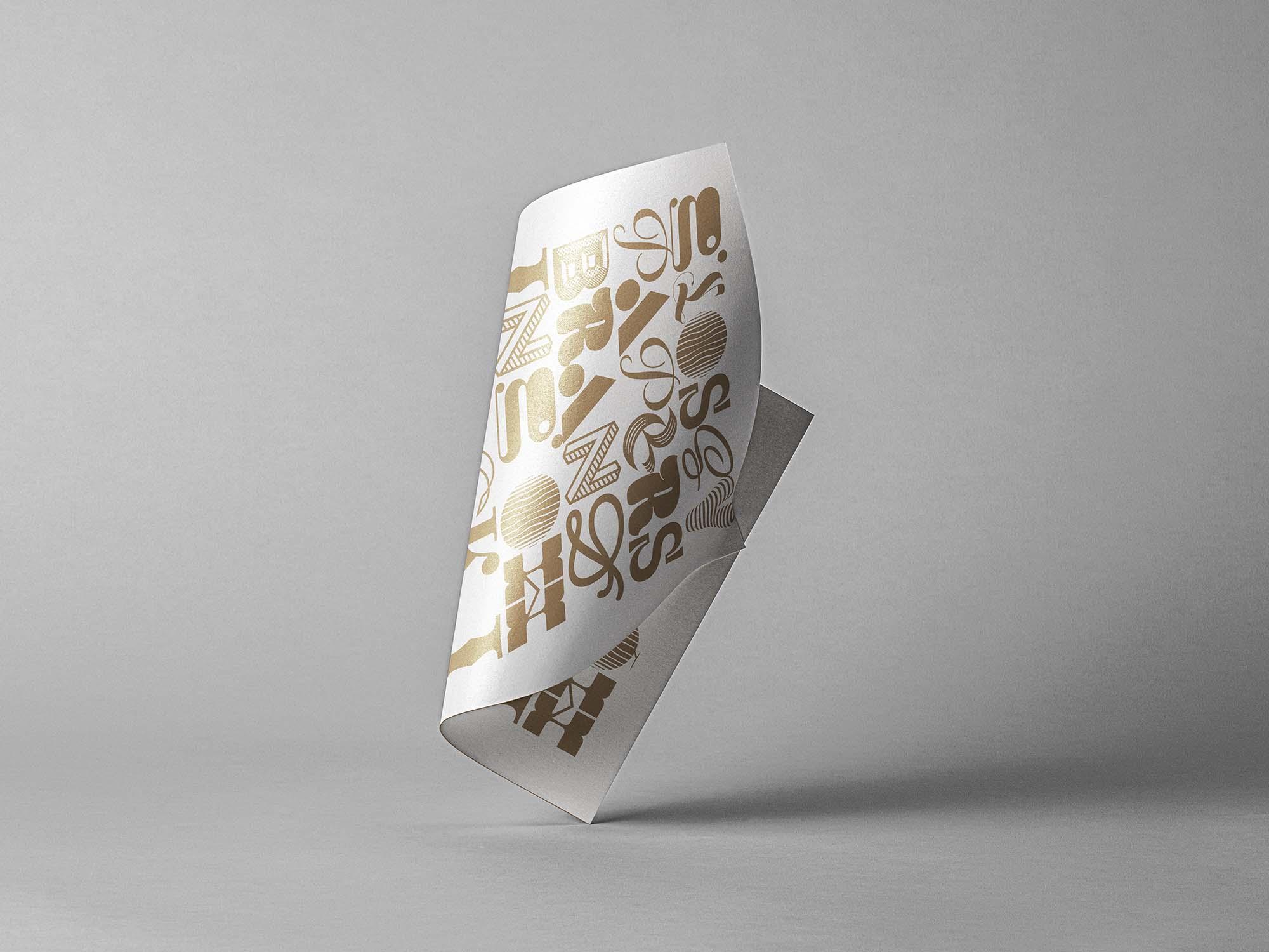 Folded Paper Mockup 2