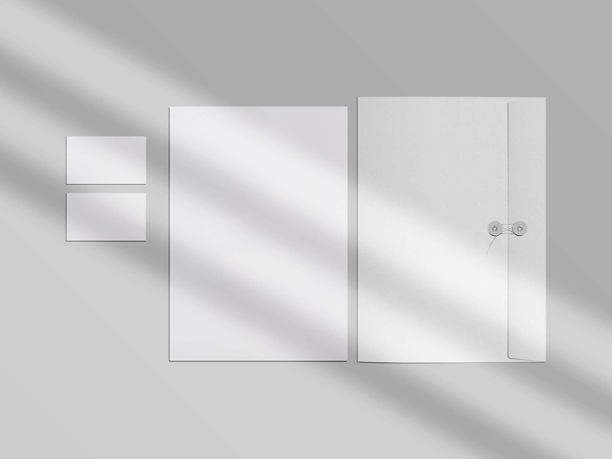 Folder Stationery Branding Mockup 2