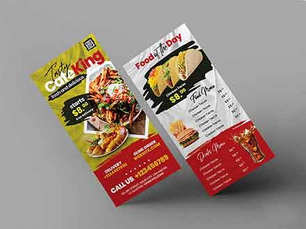 Food Menu DL Flyer Template