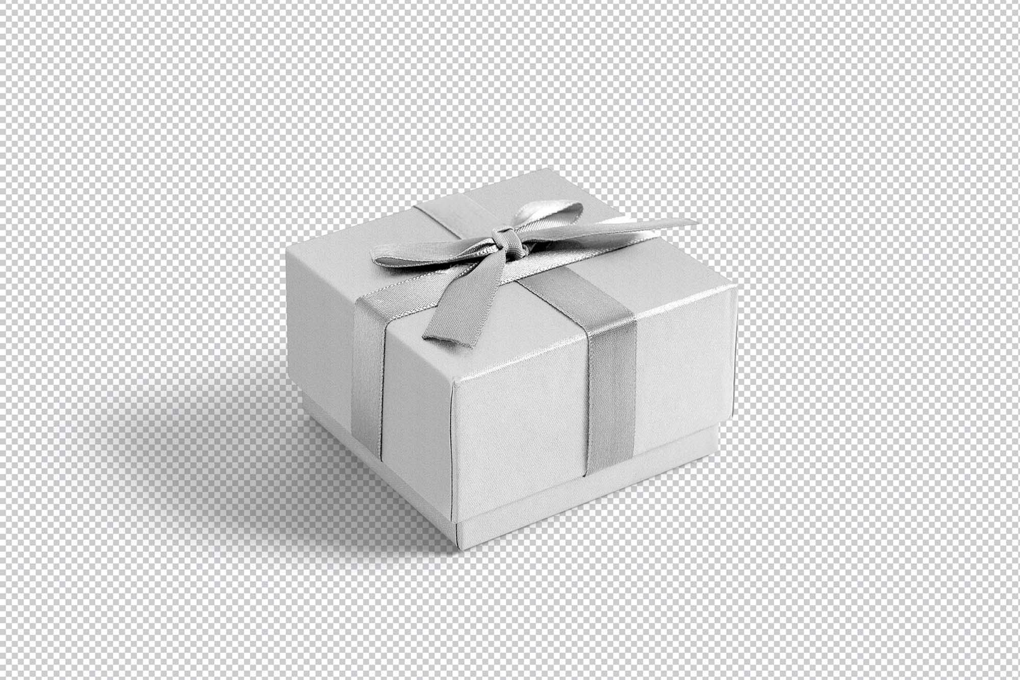 Gift Box with Ribbon Mockup 2
