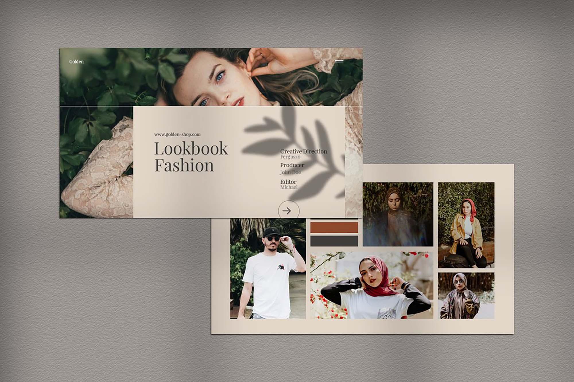 Golden Lookbook Fashion Powerpoint 1
