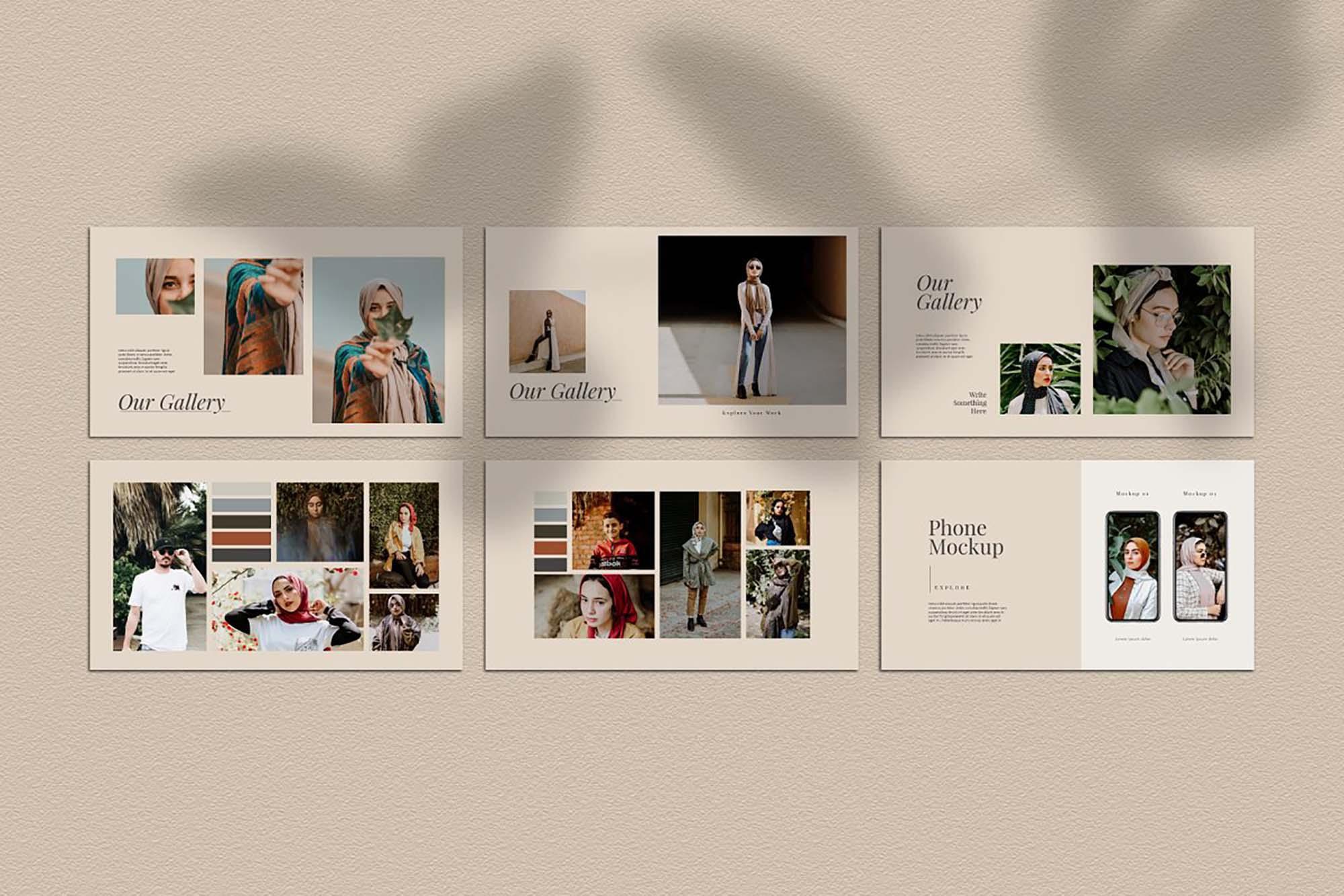 Golden Lookbook Fashion Powerpoint 6