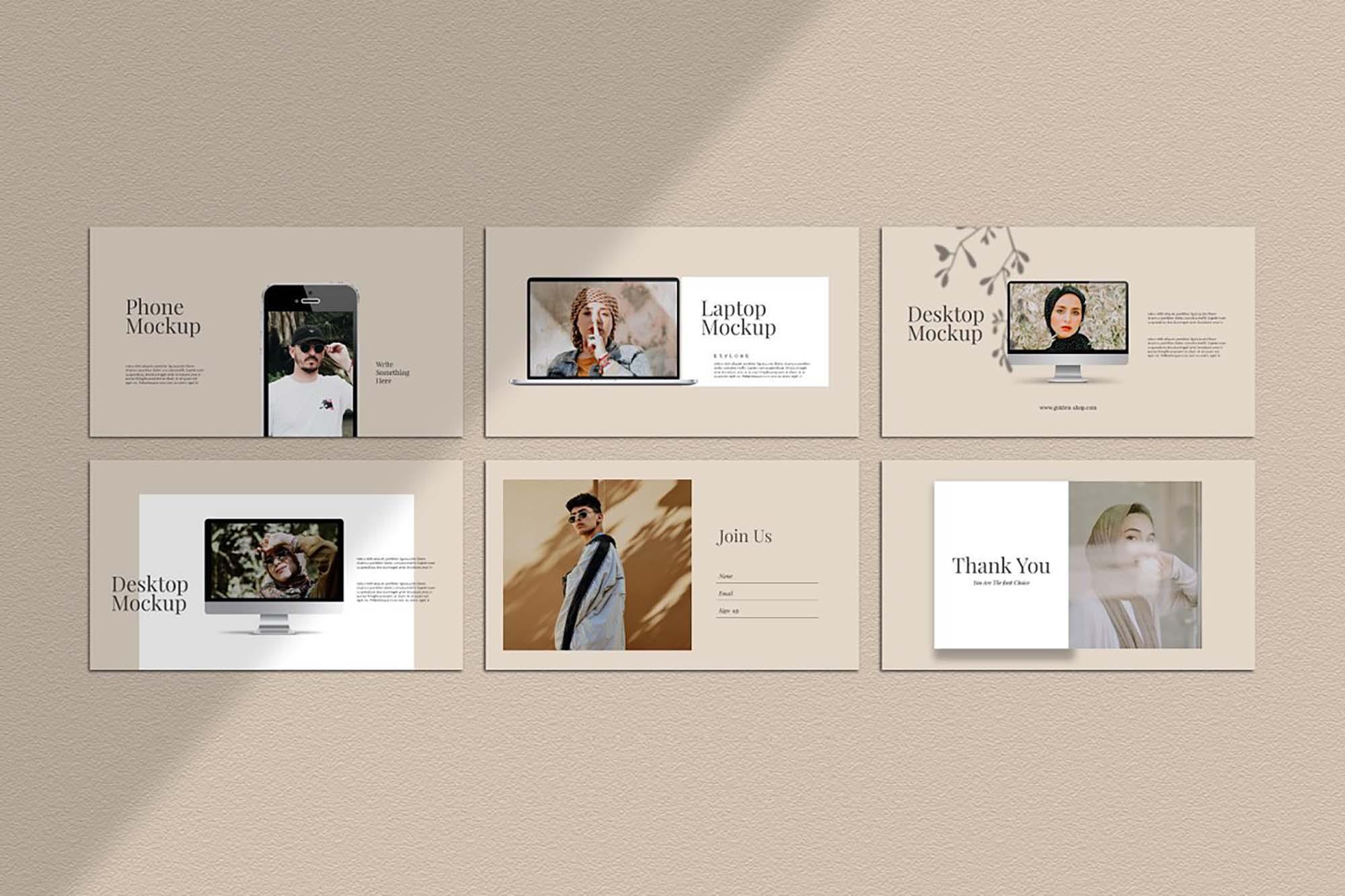 Golden Lookbook Fashion Powerpoint 7