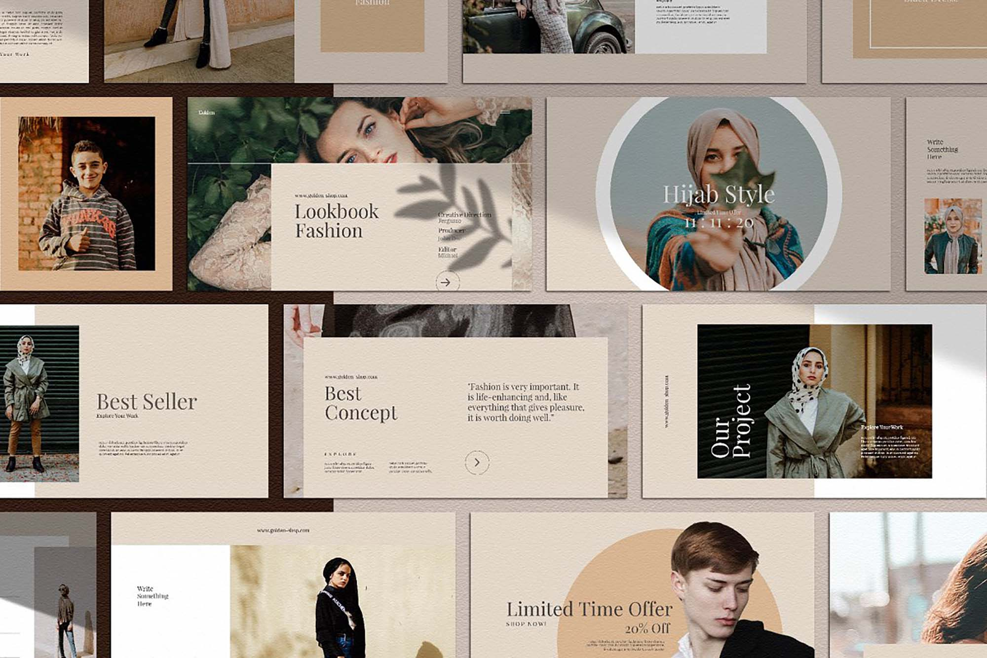 Golden Lookbook Fashion Powerpoint