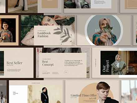 Golden Lookbook Fashion Powerpoint