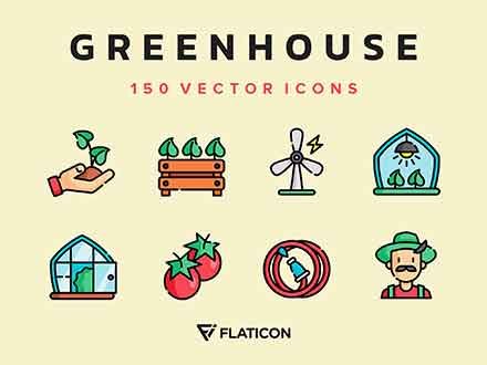 Greenhouse Vector Icons