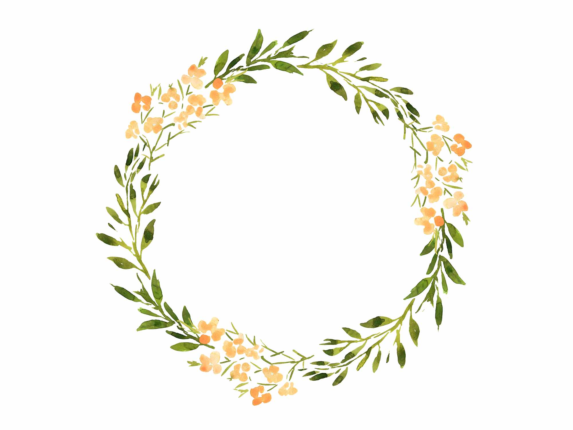 Hand-painted Wreaths and Bouquets 3