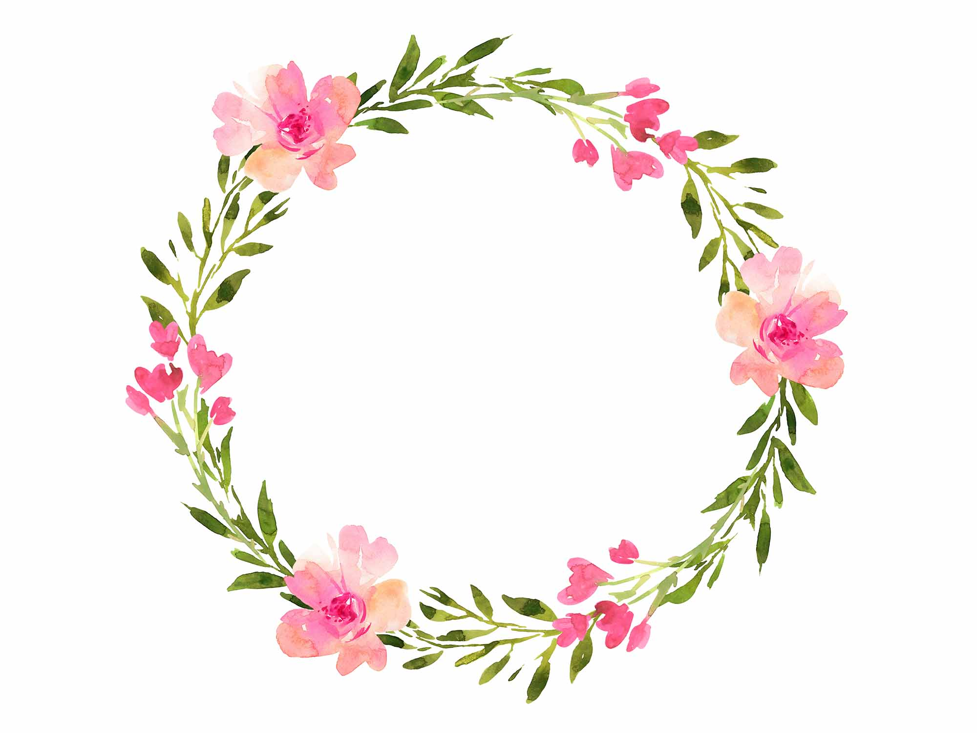 Hand-painted Wreaths and Bouquets 4