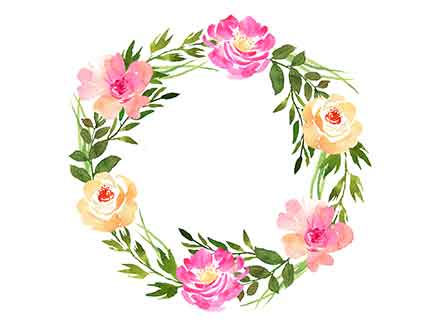 Hand-painted Wreaths and Bouquets