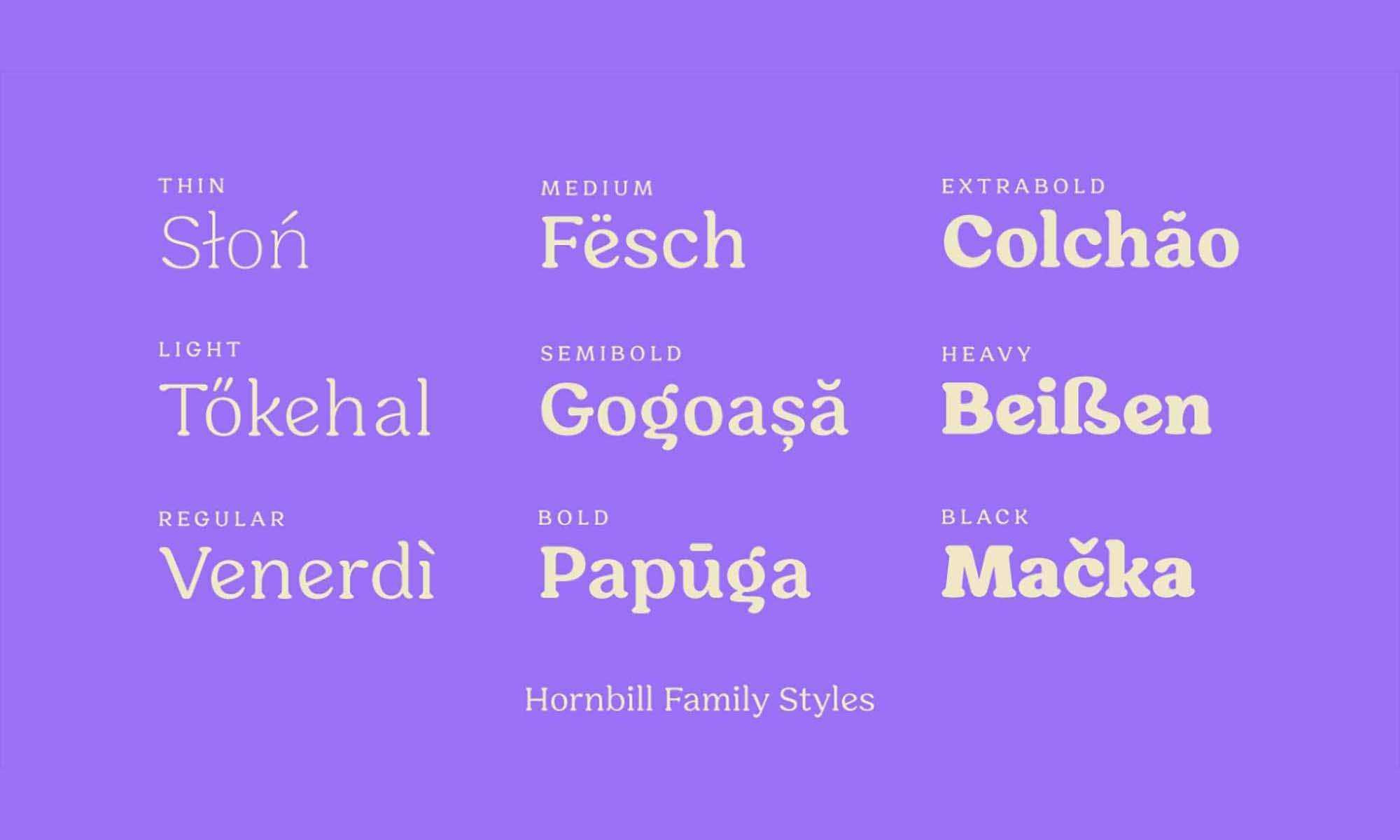 Hornbill Font Family 1