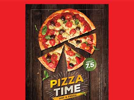 Hot Pizza Flyer Template