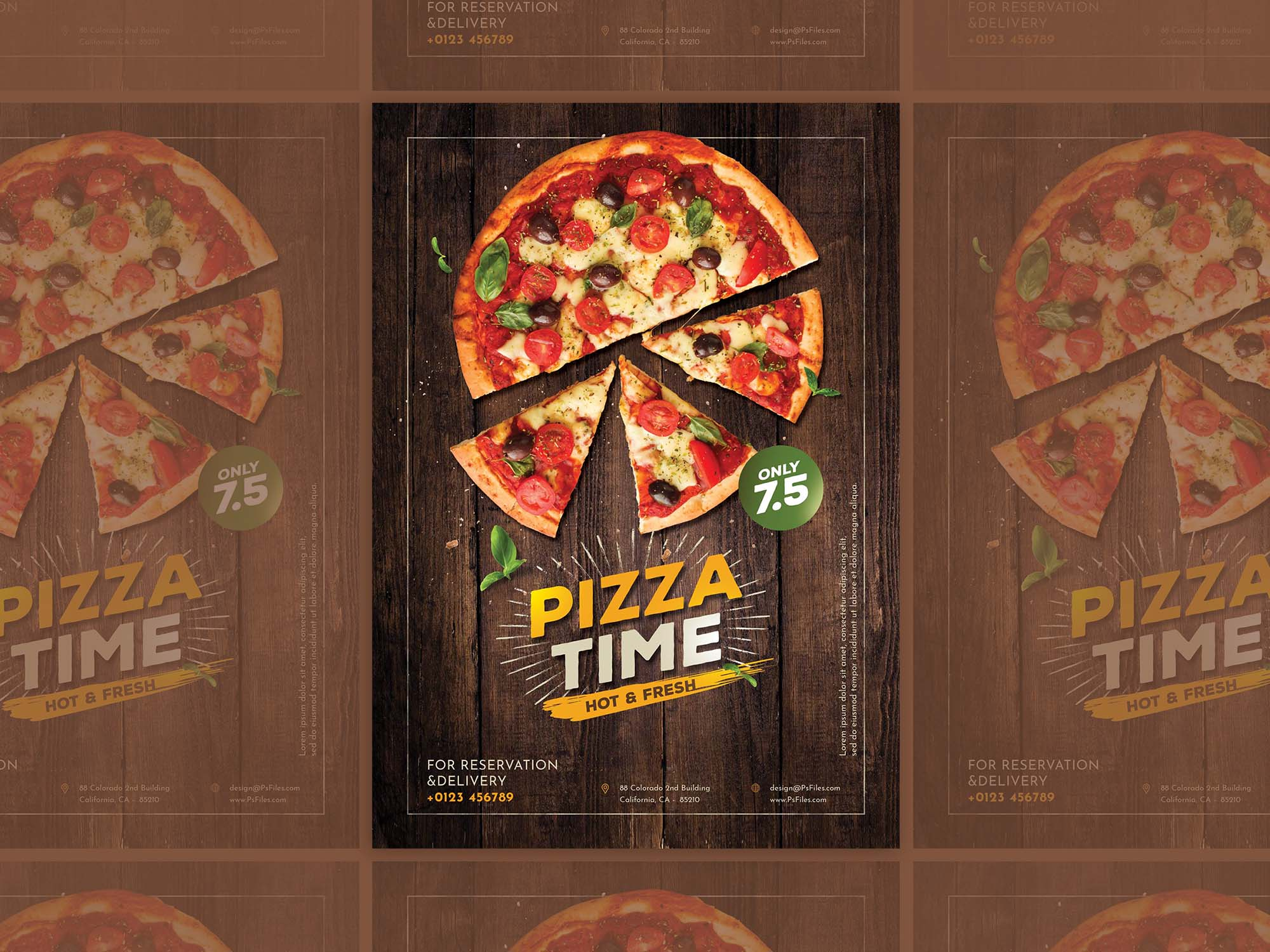 Hot Pizza Flyer Template 2