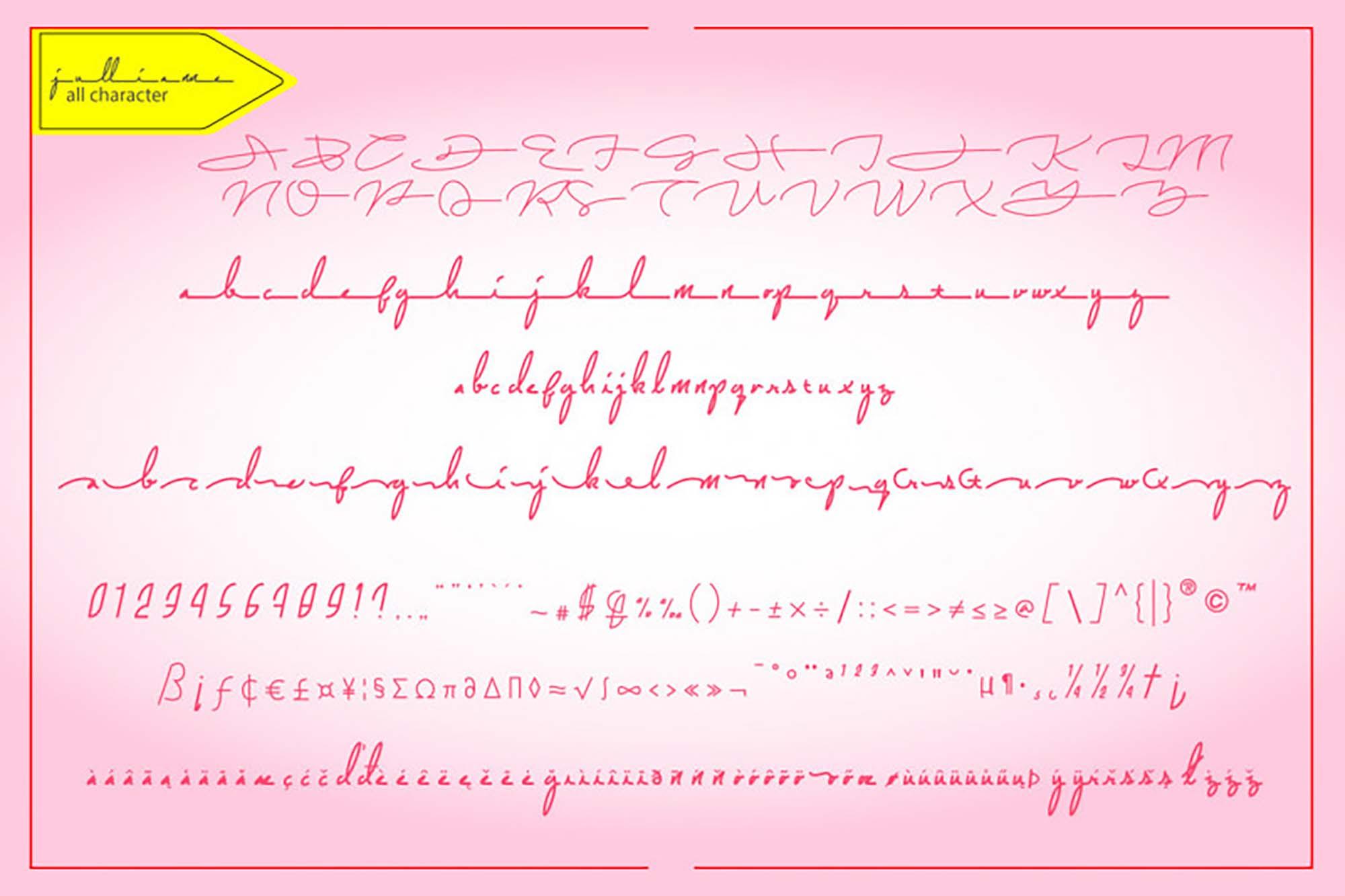 Jullianne Script Font 2