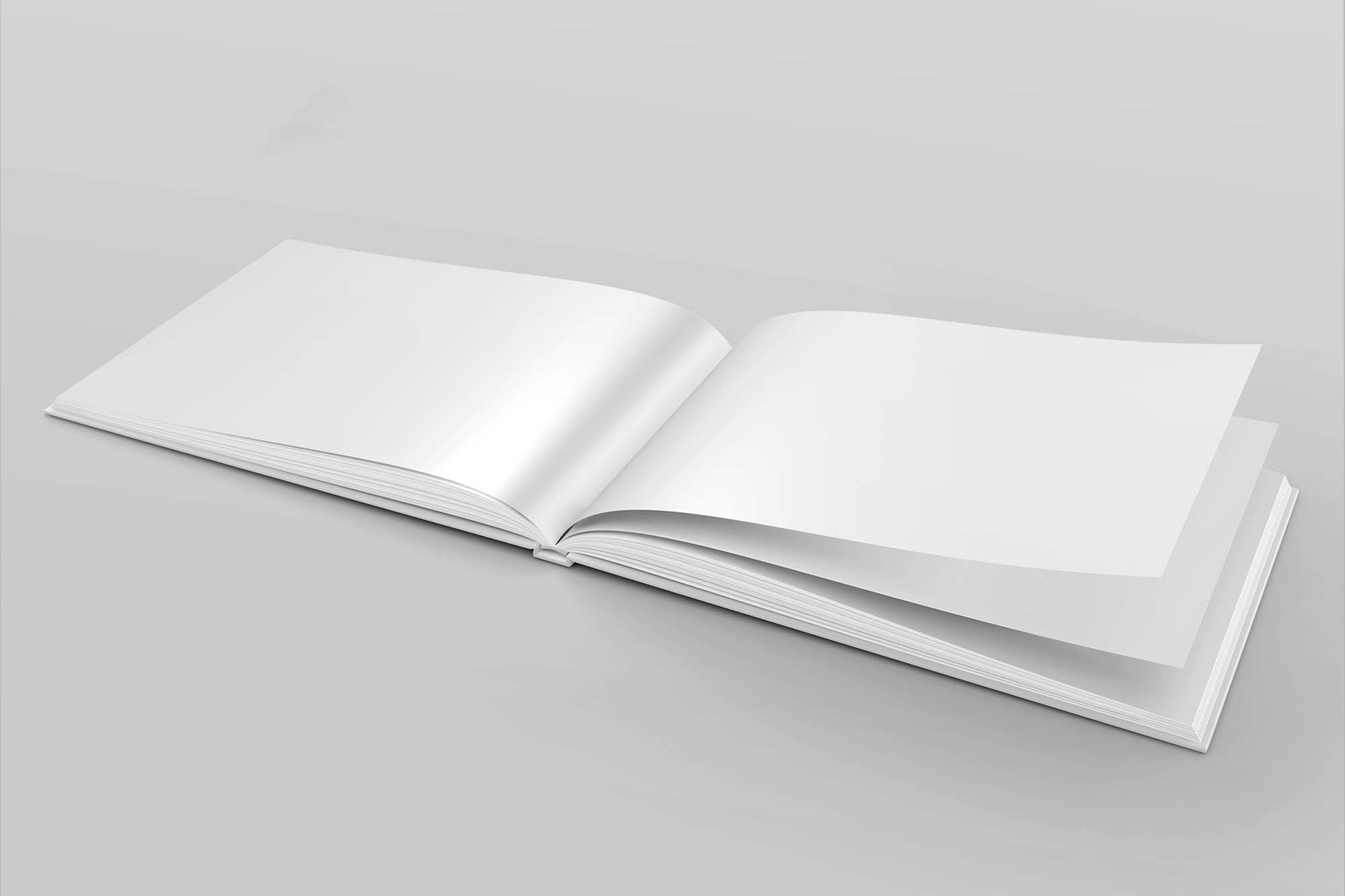 Landscape Hardcover Book Mockup 2