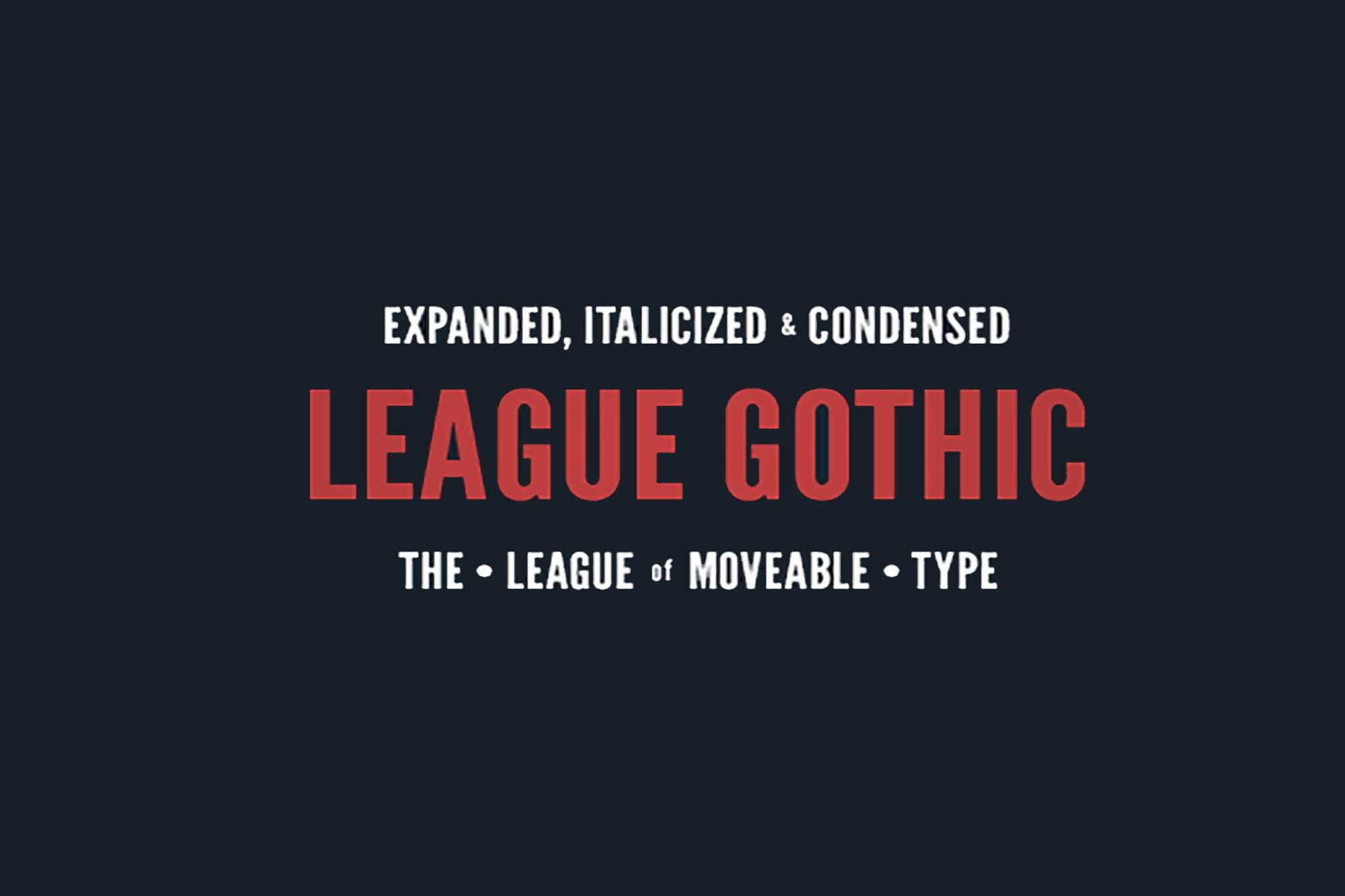 League Gothic Font